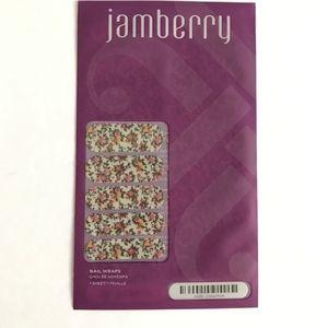 Jamberry Nail Wraps Full Sheet China Rose Floral